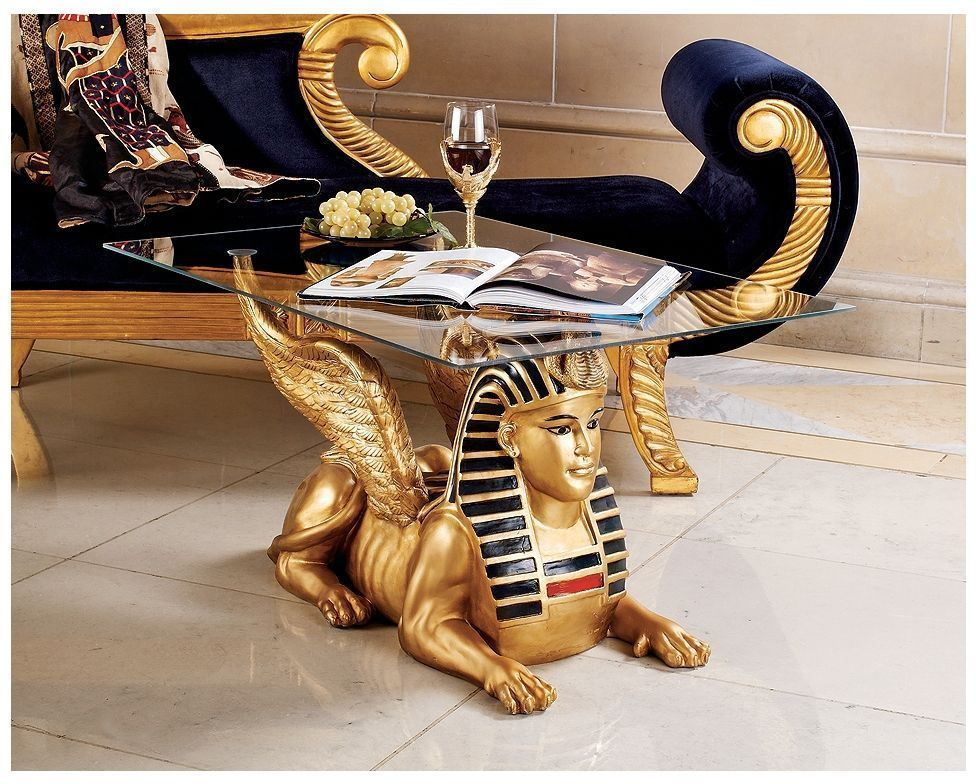 Pleasant Ancient Egyptian Mythical Beast Sphinx Sculptural Glass Top Andrewgaddart Wooden Chair Designs For Living Room Andrewgaddartcom