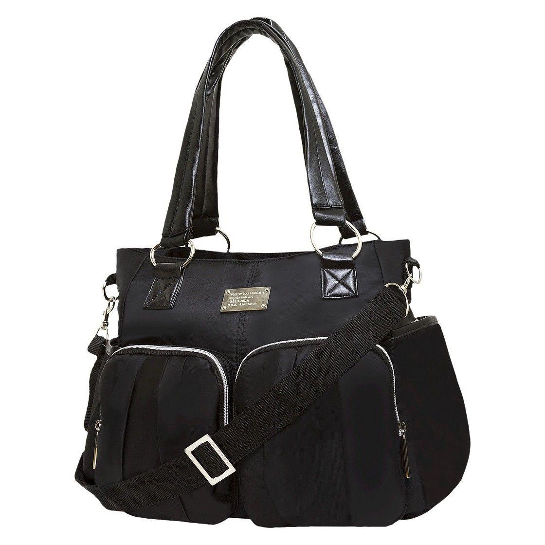 c3b9e113eabe Wendy Bellissimo Shirred Pocket Tote Diaper Bag - Black