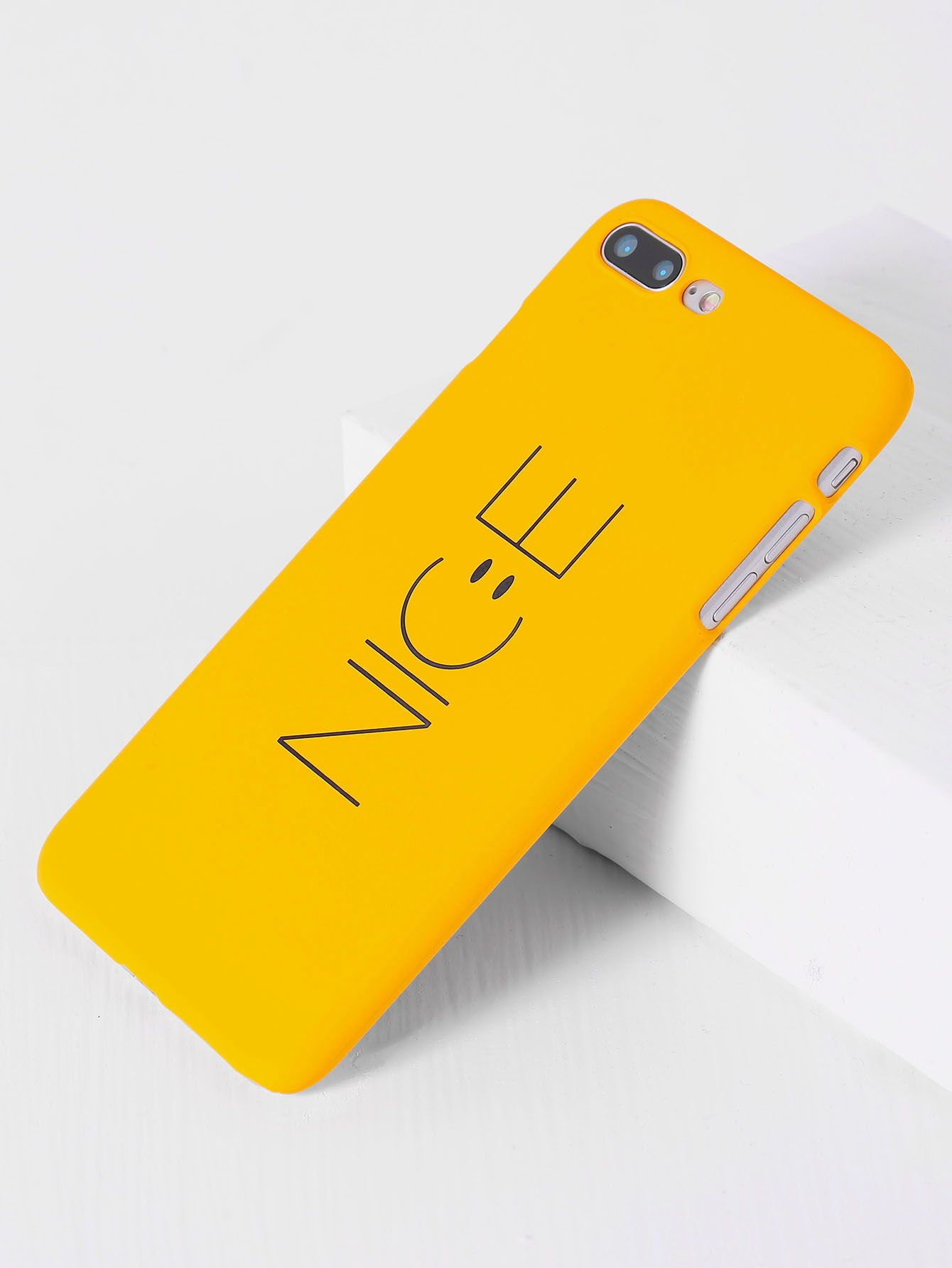 2429e26867ad0c Yellow Letter Print iPhone 7plus Case | Make Your Statement in 2019 ...