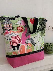 Anette L syr och skapar: Beskrivning Väskor med blixtlås