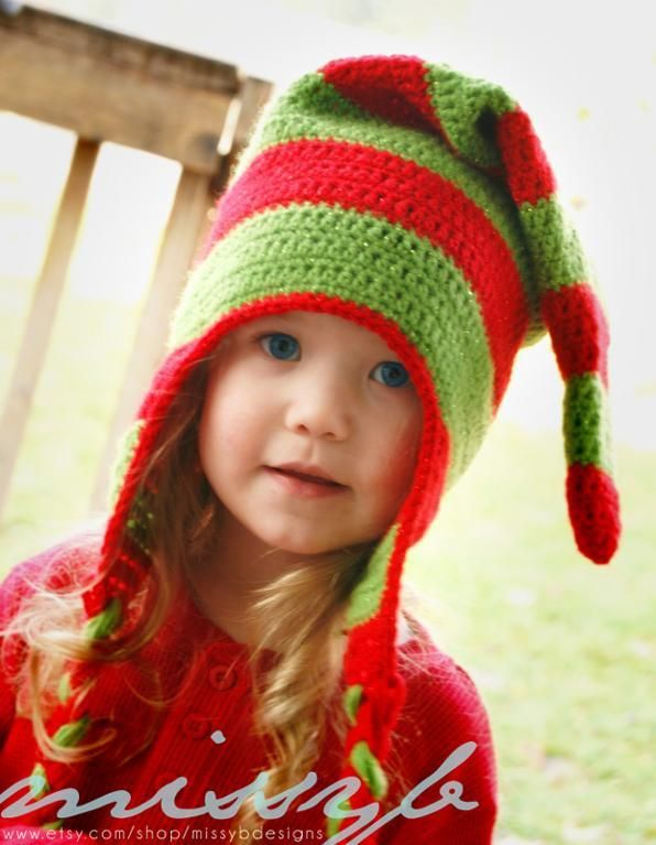Striped Christmas Elf Hat Pattern Elf Hat Elves And Patterns