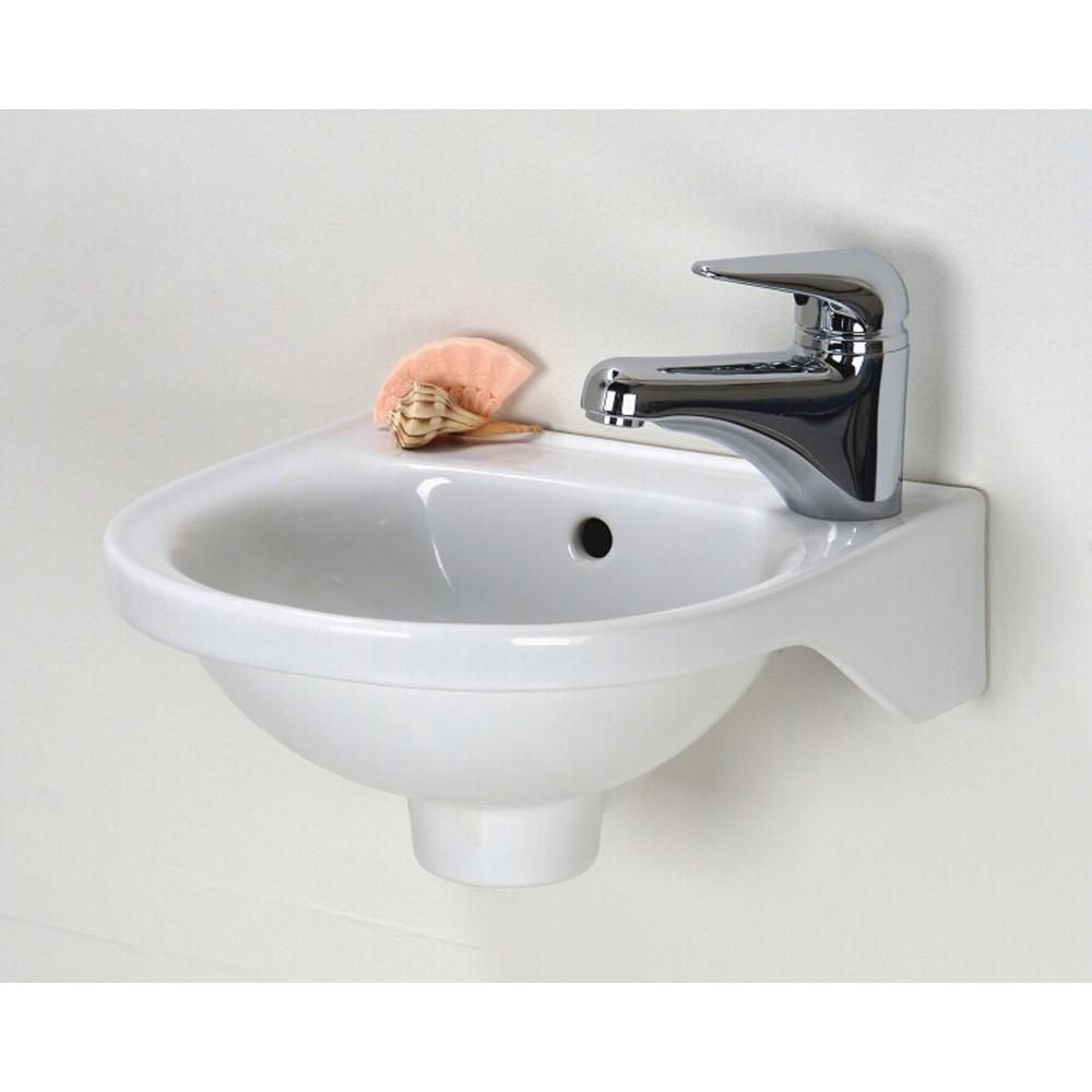 Rosanna Wall Mounted Bathroom Sink In White 4 521wh At The Home Depot