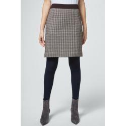 Photo of Jersey skirt in dark brown cream patterned windsor