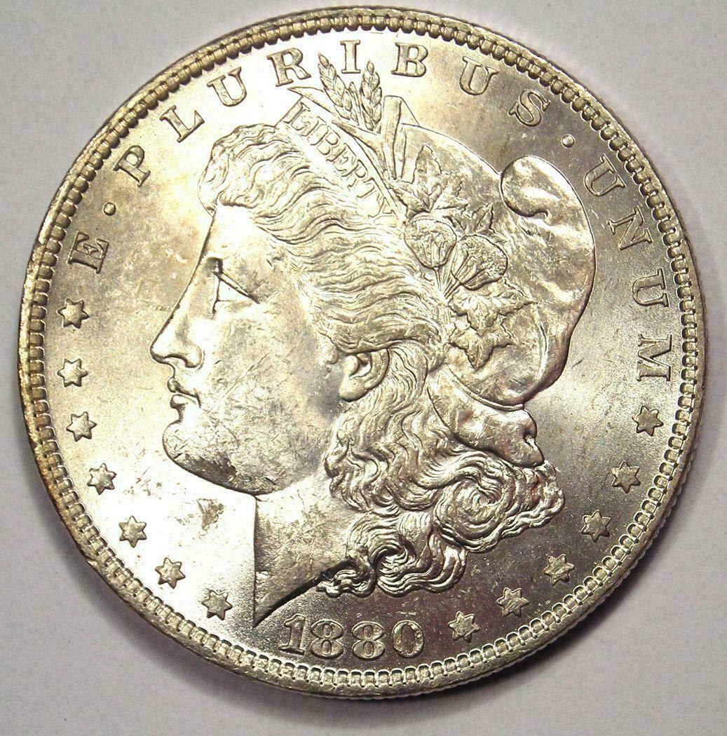 1880 O Morgan Silver Dollar 1 Coin Choice Bu Ms Unc Nice Luster In 2020 Silver Dollar Silver Dollar Coin Morgan Silver Dollar