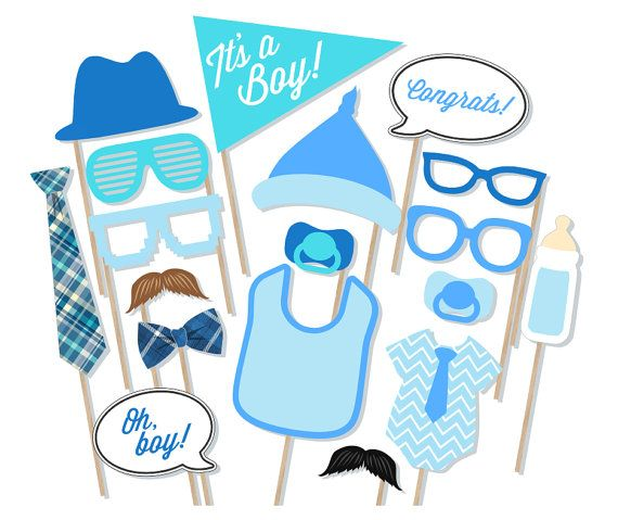 Itu0027s A Boy Baby Shower Printable Photo Booth Props   Baby Shower Photobooth  Props   Blue Baby Shower Printables   Baby Boy Photobooth
