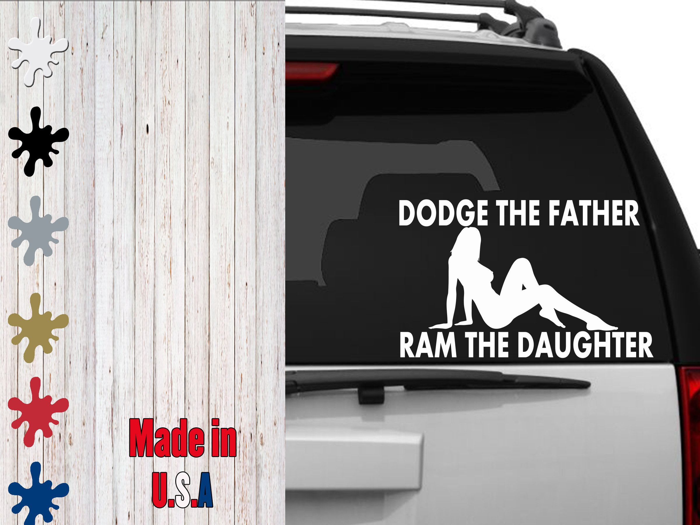 Dodge The Father Ram The Daughter Decal Choose Your Size Car Decal Laptop Decal Custom Decals Laptop Decal Ford Memes