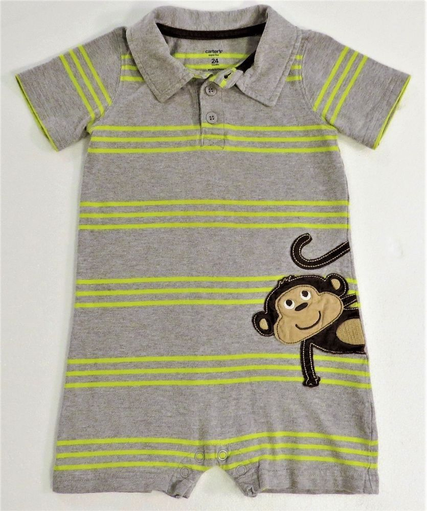 16bb50525 Carters 24-Month Boys One-Piece Romper (Polo Style) Super-Fun ...