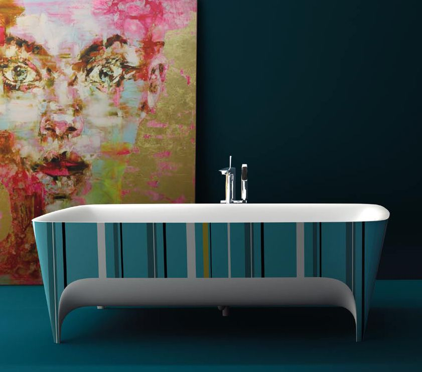 Bathroom Design Video color for modern bathrooms: pop limited edition accademia bathtub