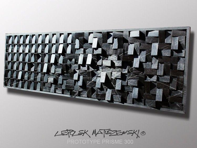 Prototype prisme 300 expressionnisme abstrait - Tableau contemporain abstrait design ...
