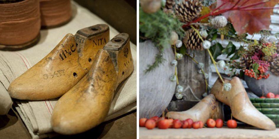 Decora con hormas de zapato vintage. Las puedes encontrar en mercados o tiendas de antigüedades y son perfectas para decorar cualquier rincón, encima de una mesa, de un grupo de libros,… dale un toque vintage a tu casa!