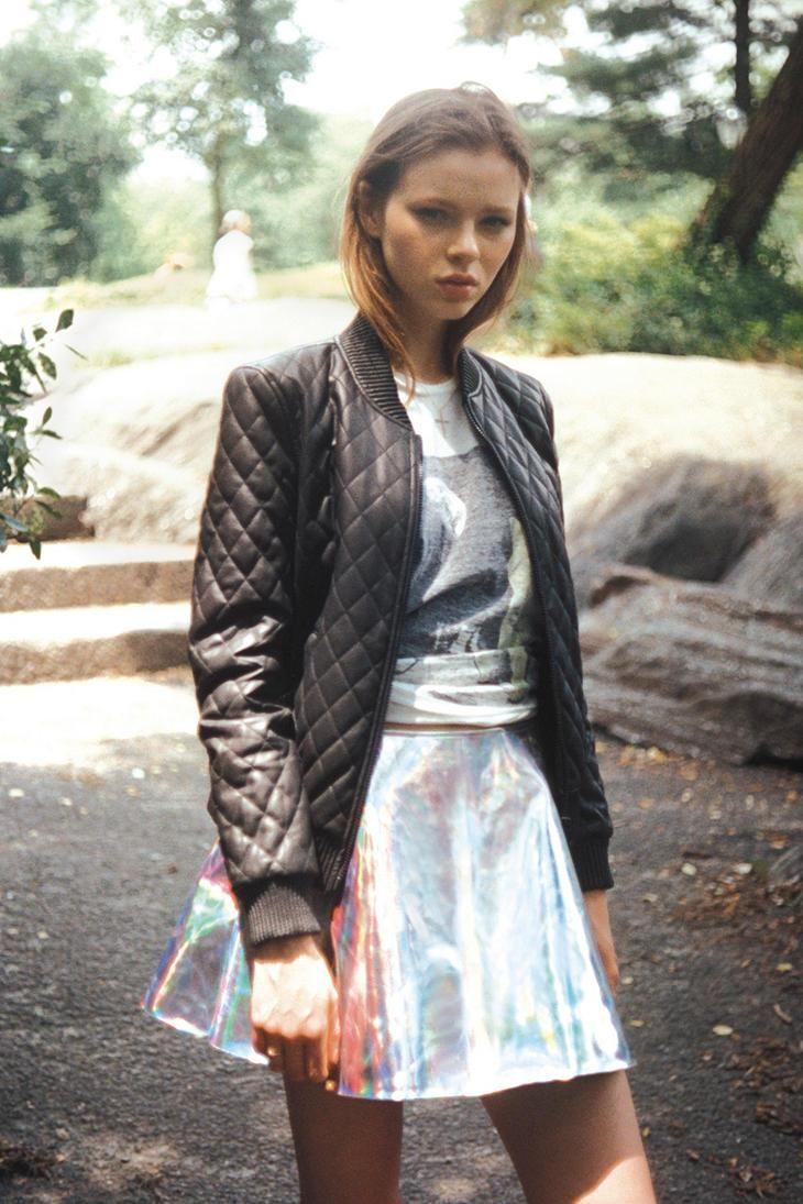 ★ //» UNIF Gamma Ray Hologram Skirt #urbanoutfitters
