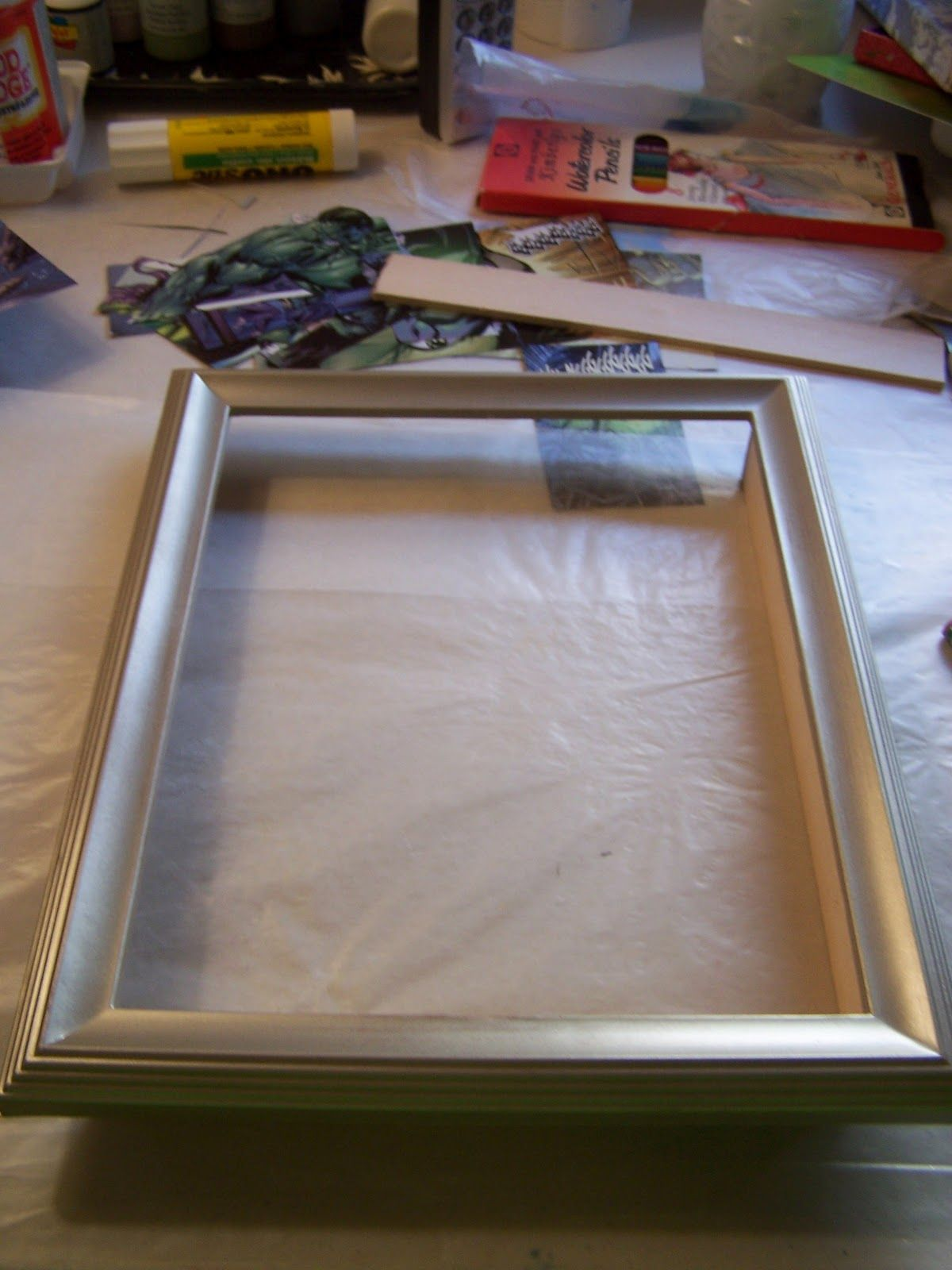 How to make a shadowbox from dollar store frames macgyver style how to make a shadowbox from dollar store frames macgyver style scrapbooking ideas dollar stores and scrap jeuxipadfo Gallery