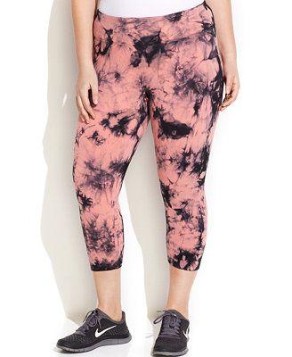 9850af96c8d Calvin Klein Performance Plus Size Tie-Dye Capri Leggings