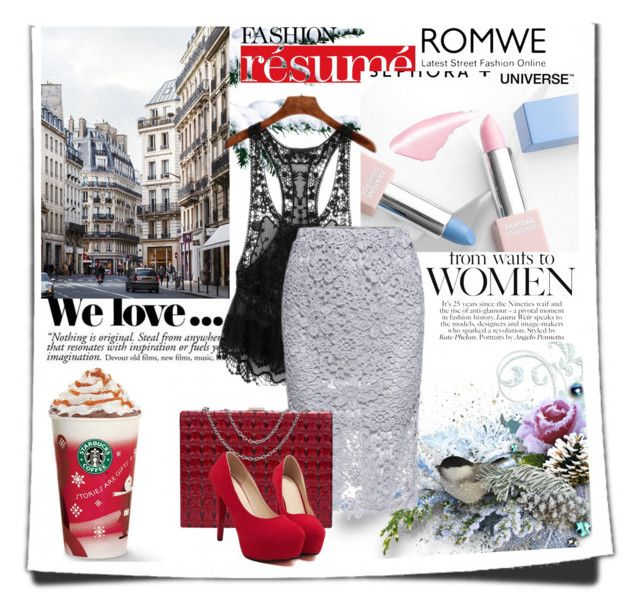 """""""Romwe 9/7"""" by amelaa-16 ❤ liked on Polyvore featuring Sephora Collection and Zara"""