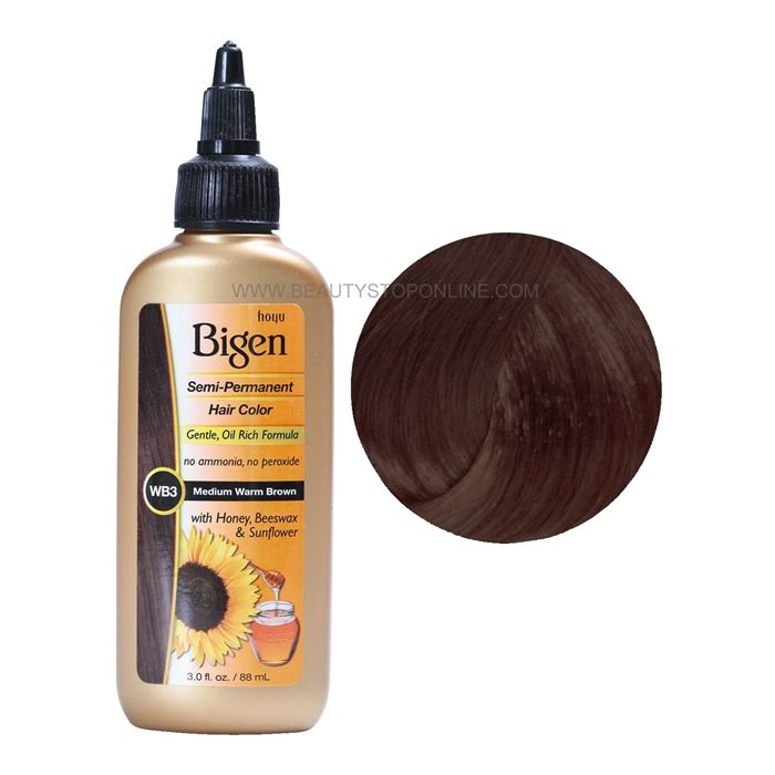 Bigen Semi Permanent Hair Color Wb3 Medium Warm Brown Semi