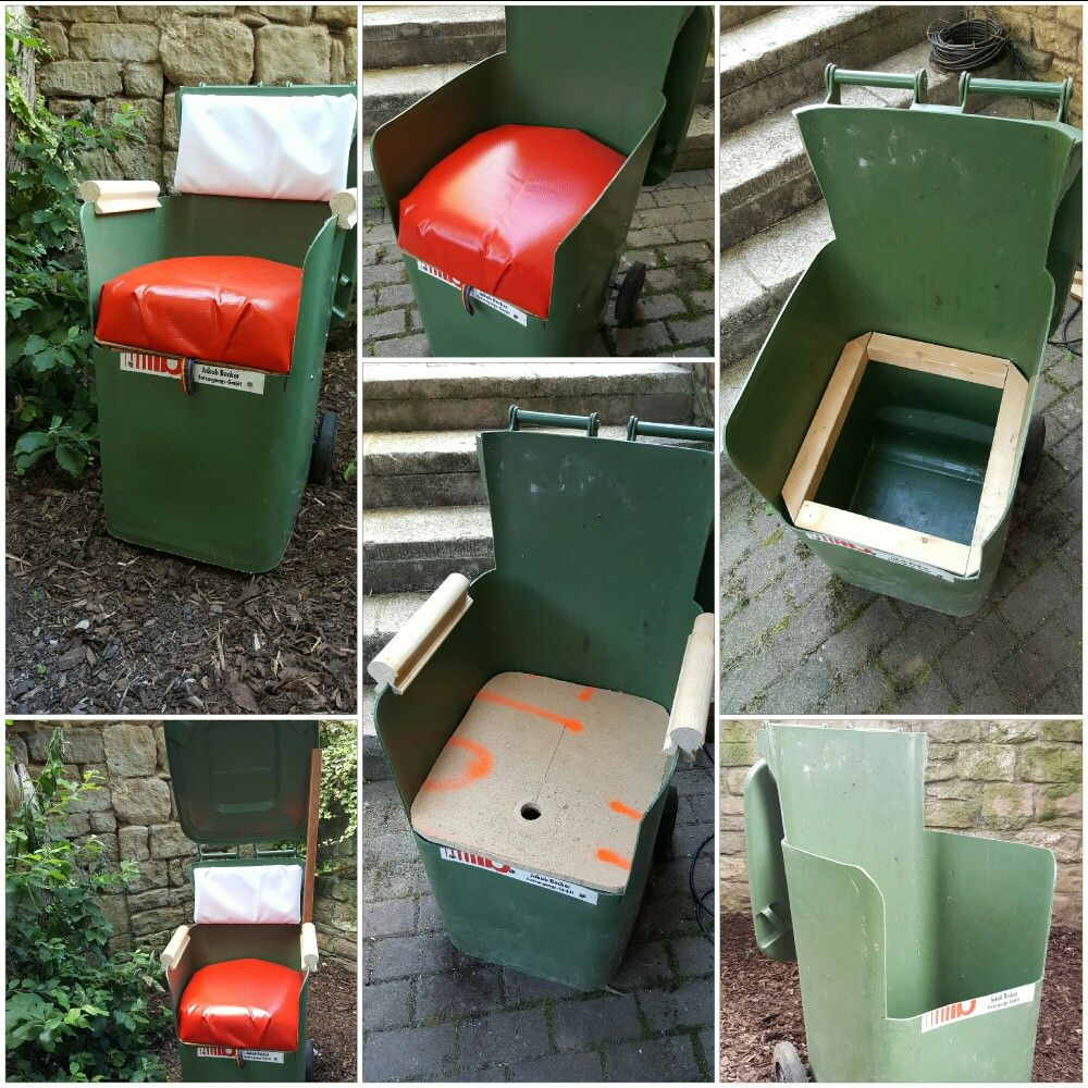 Upcycling Sessel Upcycling Sessel Aus Einer Alten Mülltonne Projekte 2016