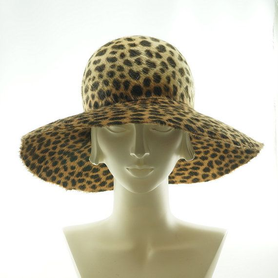 e21c2a7ba4975 Animal Print WIDE BRIM HAT for Women Floppy by TheMillineryShop ...
