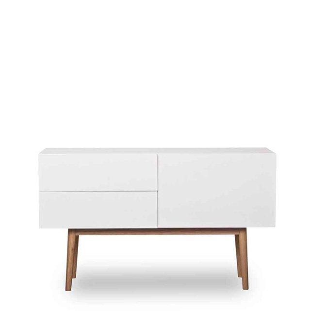 Buffet design 1 porte 2 tiroirs scandinave High Wood_ DRAWER La