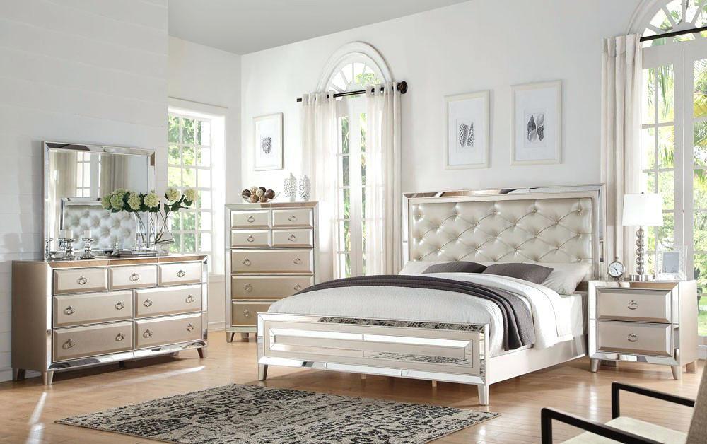 Spiegelglas Schlafzimmer Mobel Dekoration Ideen Bedroom Sets Queen Mirrored Bedroom Furniture Bedroom Sets