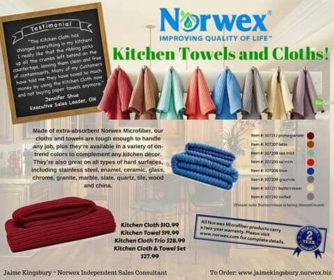 Kitchen Cloth Towel Norwex Norwex Envirocloth Norwex Microfiber