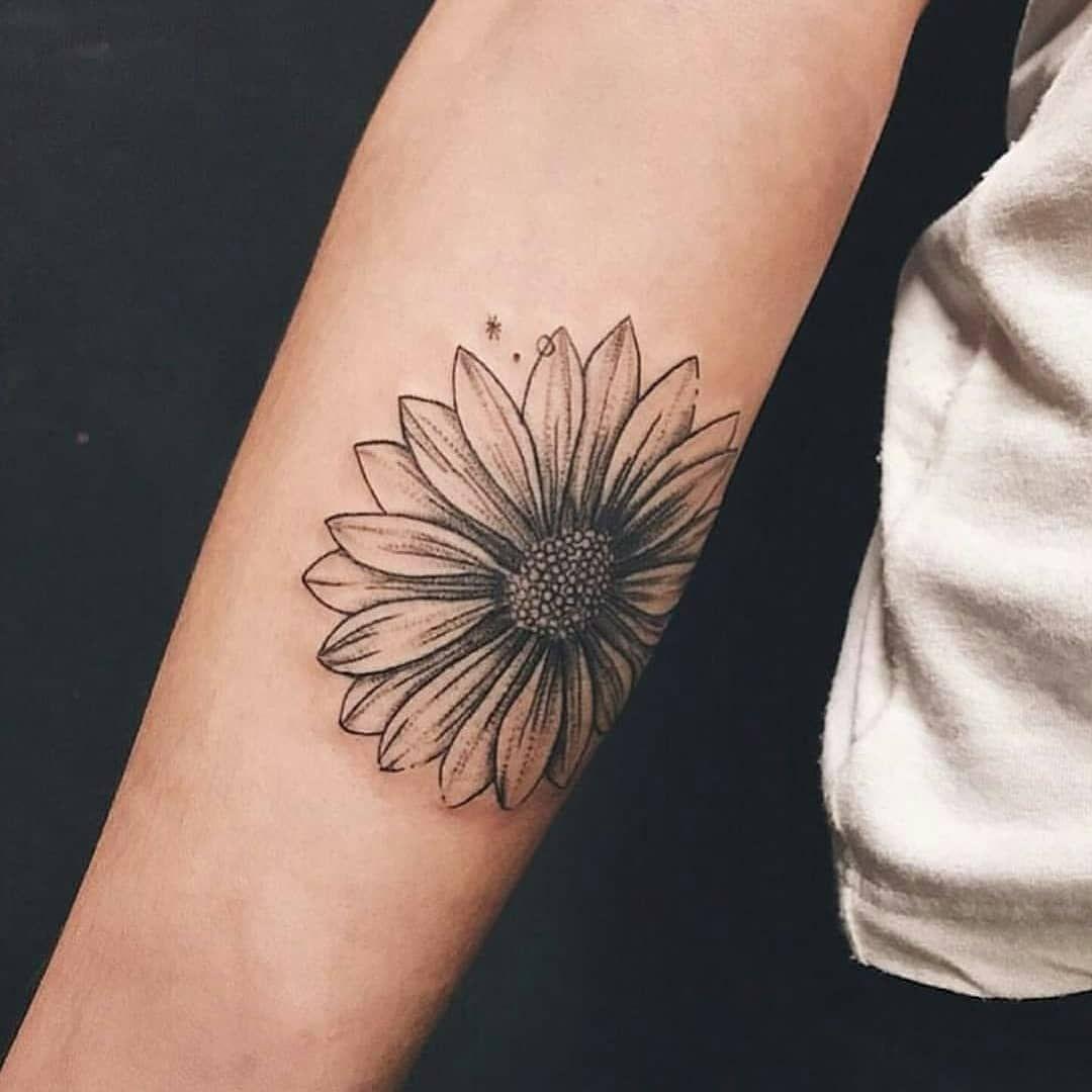 Black Sunflower Tattoo On The Arm Http Tattoogrid Net Black Sunflower Tattoo On The Arm Sunflower Tattoo Sunflower Tattoo Sleeve Tattoos