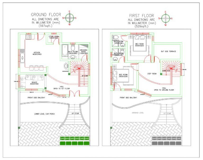 16x50 House Plan Everyone Will Like Homes In Kerala India House Plans New House Plans Home Design Plans
