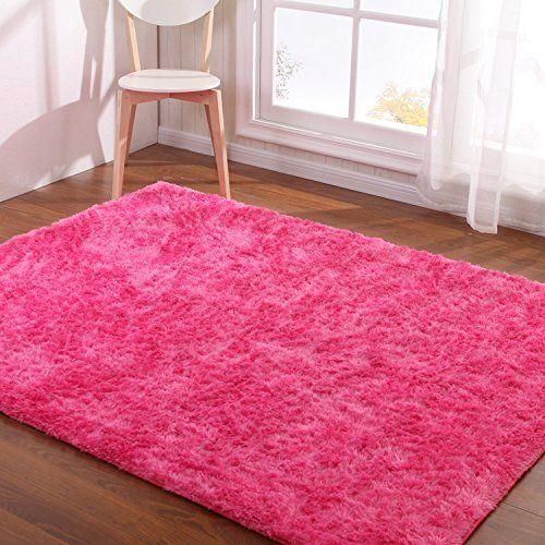 Hoomy Modern Fluffy Floor Mats Hot Pink Soft Bed Room Rug Https Www Amazon Com Dp B01hbm8uwy Ref Cm S Room Carpet Living Room Carpet Bedroom Carpet Colors
