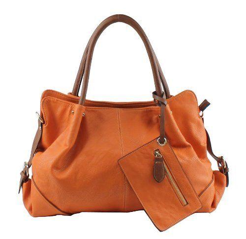 236a55d5c3ea Big Buddha Handbags Bristow Satchel With Crossbody Strap - Cognac  Handbags   Amazon.com