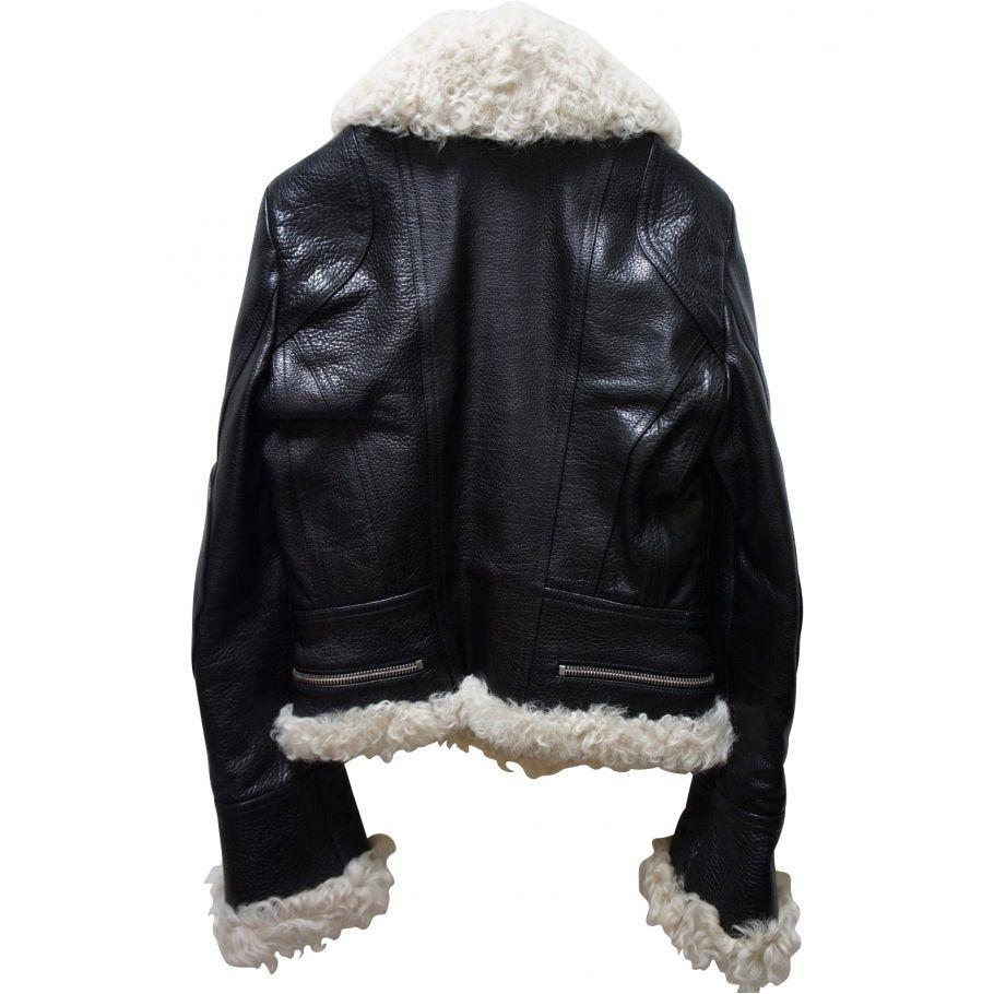 nouvelle arrivee c8ec0 9b857 NCIAGA SHEARLING PERFECTO BALENCIAGA | Leather jacket ...