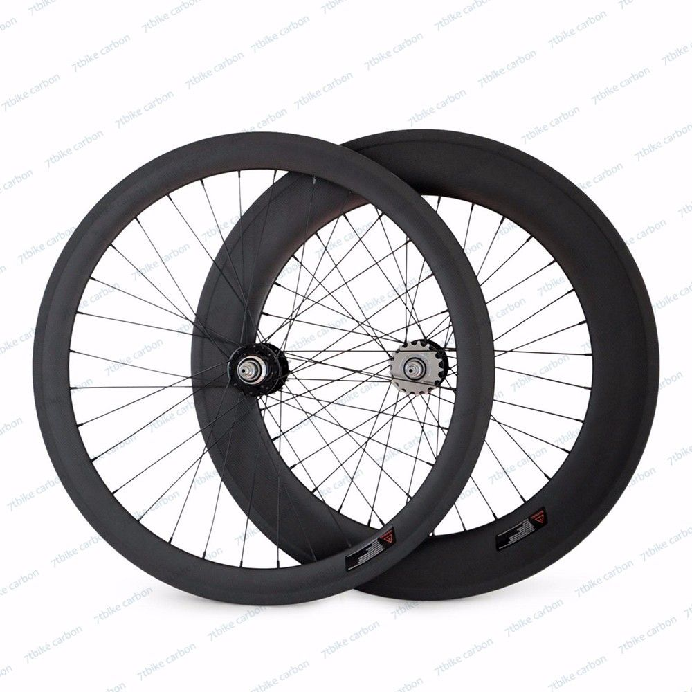Road Bike Bicycling Carbon Wheels Track Wheelset Front 50mm+Rear 88mm Clincher