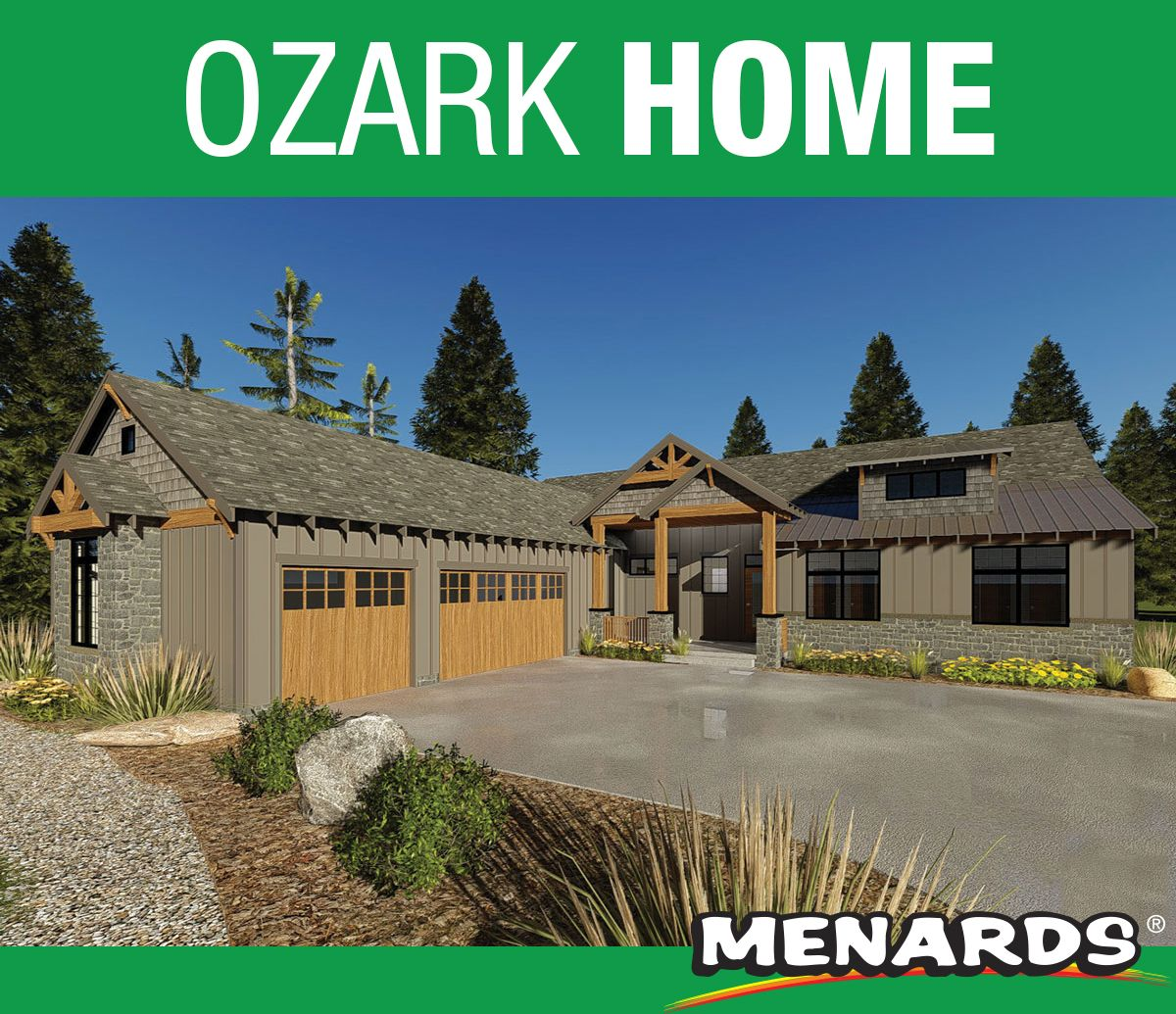 The Ozark Home Has An Appealing Blend Of Textures That Enhance The Exterior Of This Mountain Rustic Style 1 Story House Plan Wit House Plans Ozark Story House