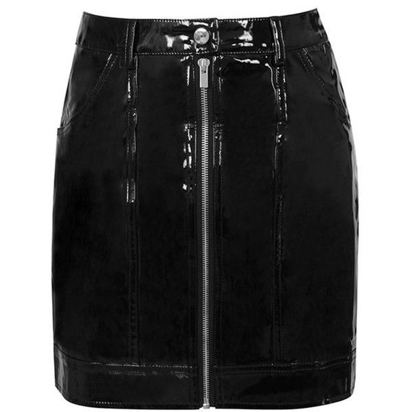 1932a1681b 'Touch' Black Patent Vegan Leather Mini Skirt - Mistress Rocks ($56) ❤ liked  on Polyvore featuring skirts, mini skirts, faux leather mini skirt, ...
