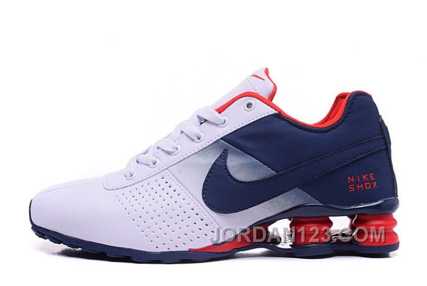 huge discount 642c9 3a3a7 NIKE SHOX DELIVER 809 WOMEN BIGGER SIZE WHITE NAVY Lastest