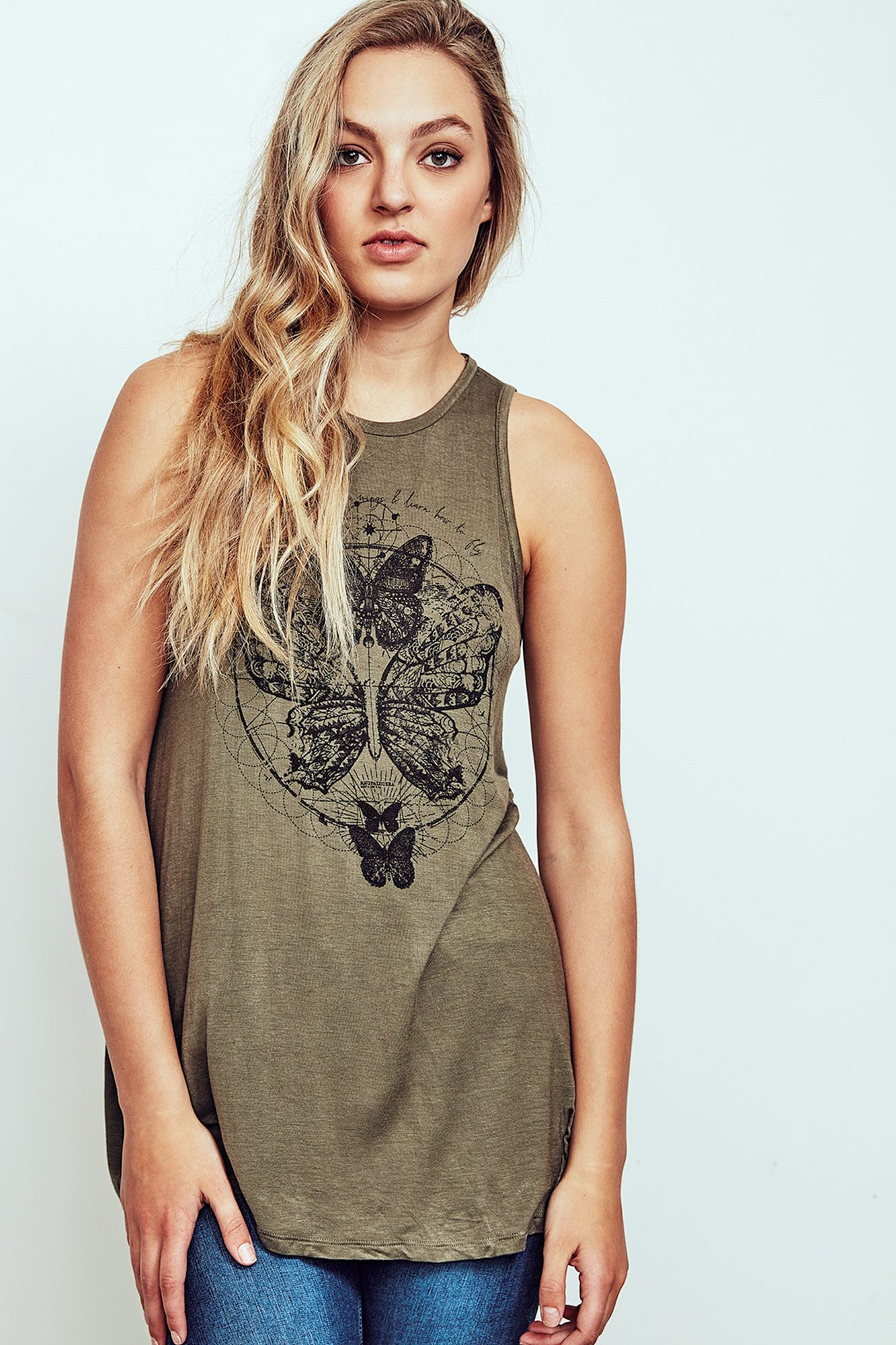Butterfly graphic tank style pinterest urban planet graphic