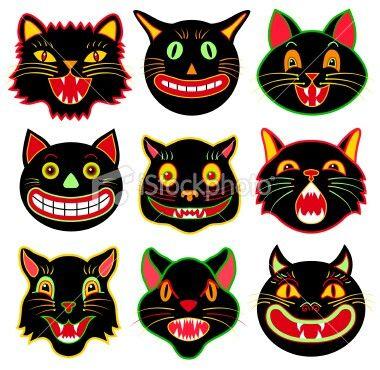 Old School With Images Black Cat Halloween Retro Halloween Halloween Cat