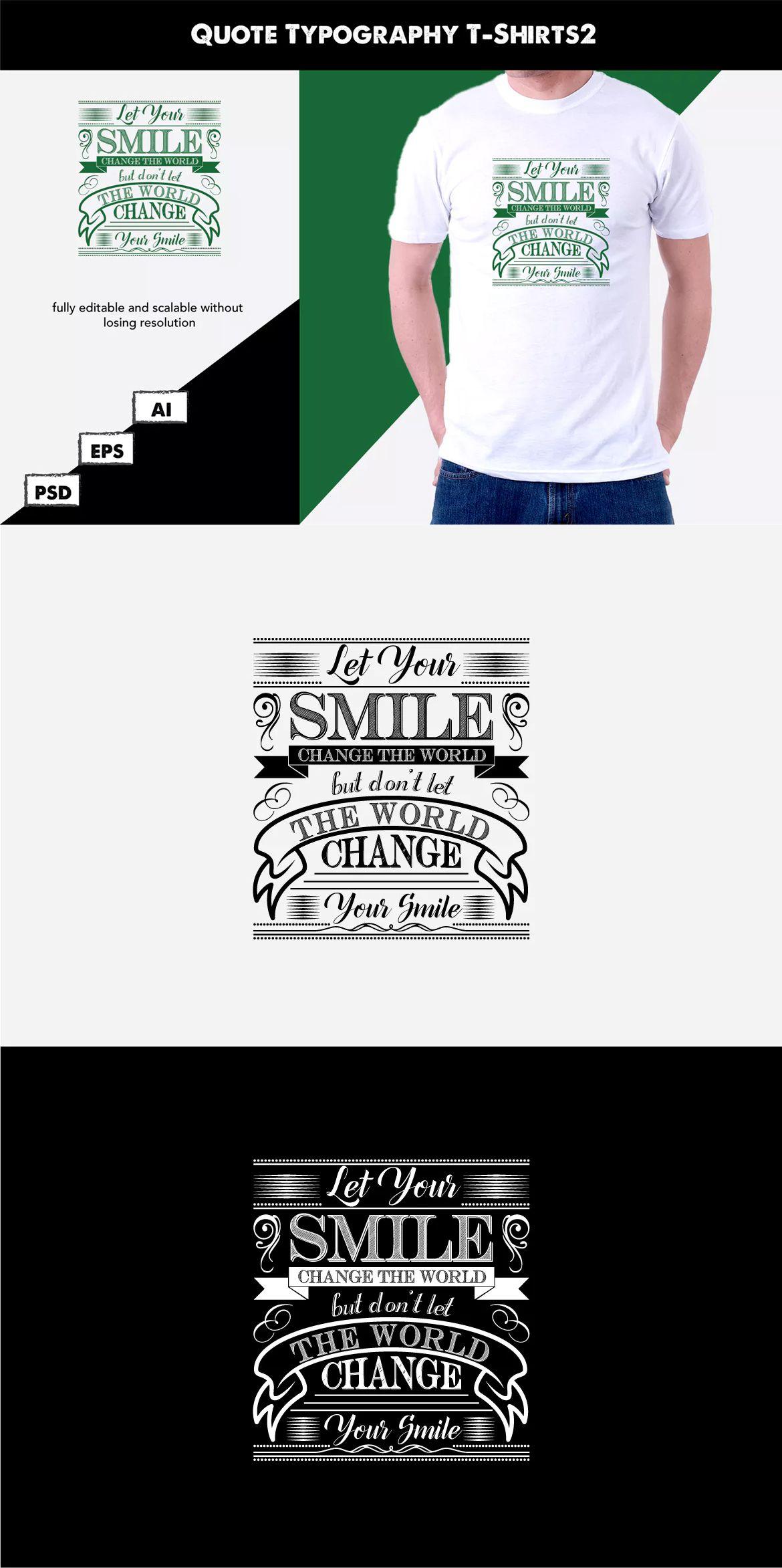 fe2869e8 Quote Typography T-Shirt2 AI, EPS, PSD #unlimiteddownloads   T-Shirt ...