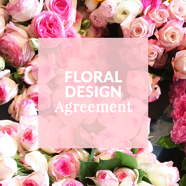Floral Design Template Contract Wedding Florist Flower Wedding