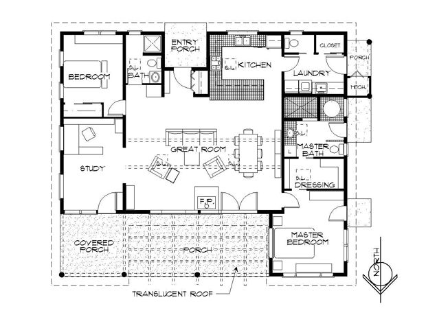 Passive solar cabin floor plans pinterest passive for Passive solar cabin plans