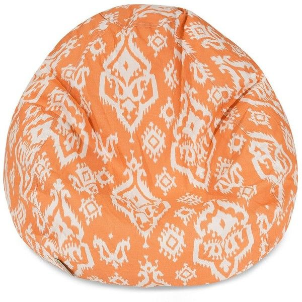 Majestic Home Goods Ikat Small Beanbag Chair Peach 98 Liked On