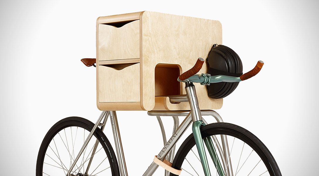 The Vadolibero Bike Butler Is A Bike Rack With Storage Bike Storage Rack Bike Storage Bike Rack Wall