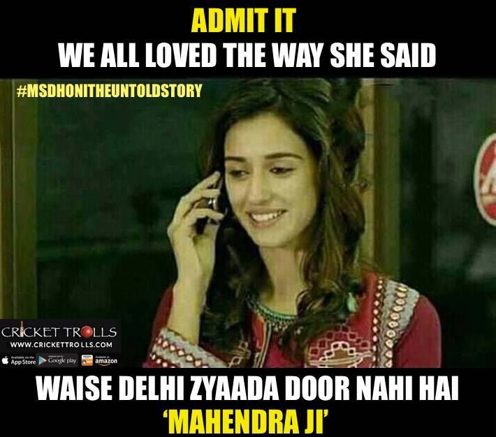 Msdhonitheuntoldstory Hats Off To Disha Patani For Portraying Ms Dhoni S First Love In The Movie Http Ift Tt 2e7l Dhoni Quotes Ms Dhoni Movie Filmy Quotes
