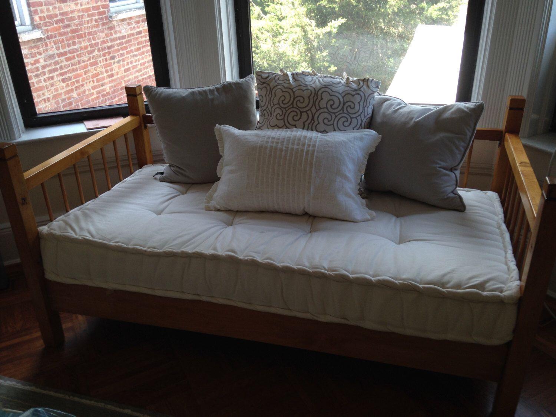 Custom Sewn Hand Tufted Window Seat Cushion French
