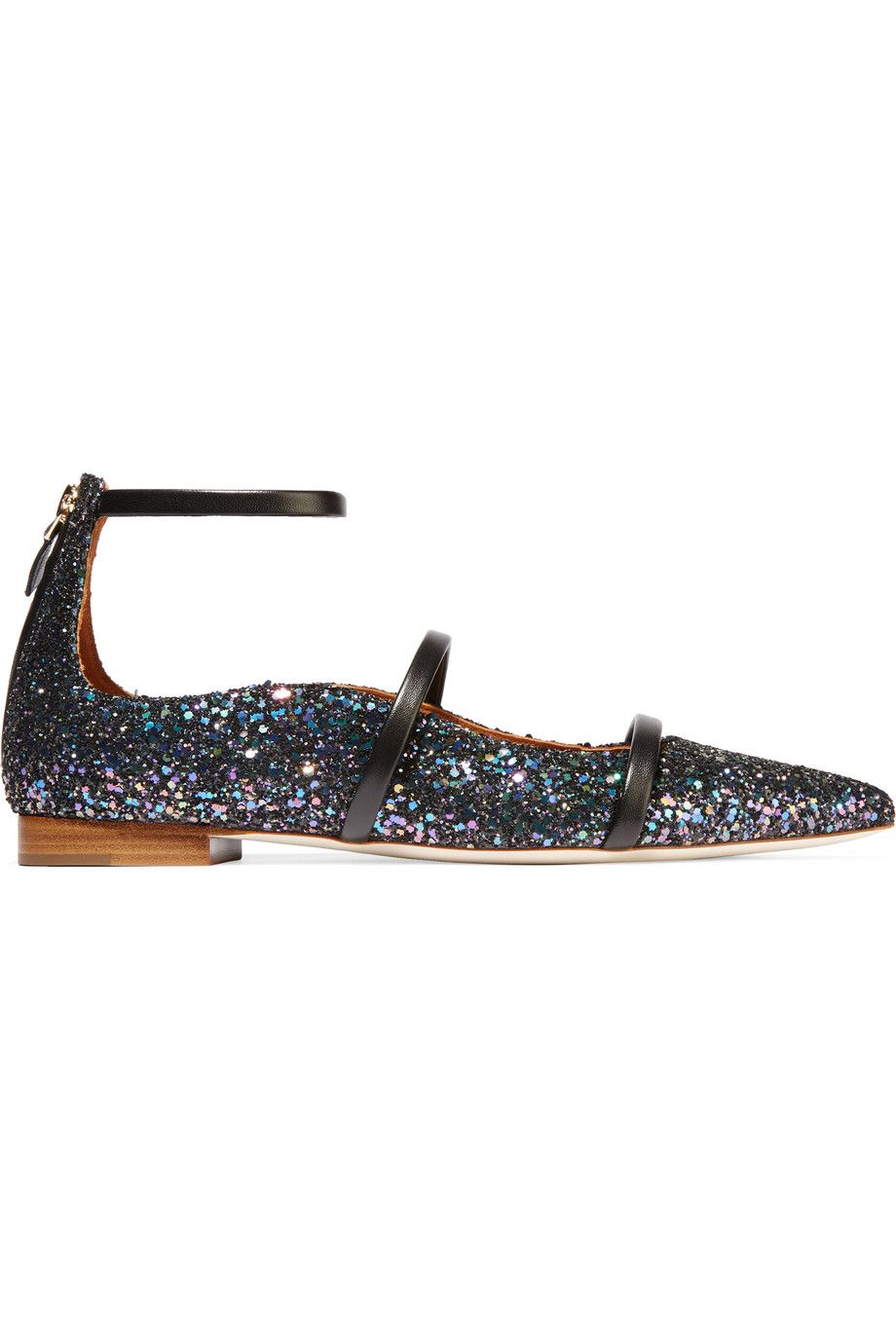 Find this Pin and more on Malone Souliers. Shop on-sale Malone Souliers  Glittered leather point-toe flats. Browse other discount designer Flat Shoes  ...
