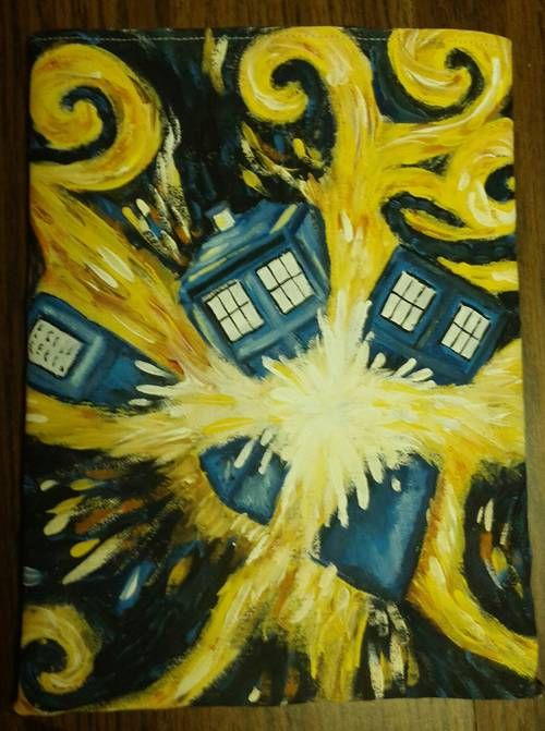 super cool exploding Tardis tablet sleeve by chughes225 on Craftster
