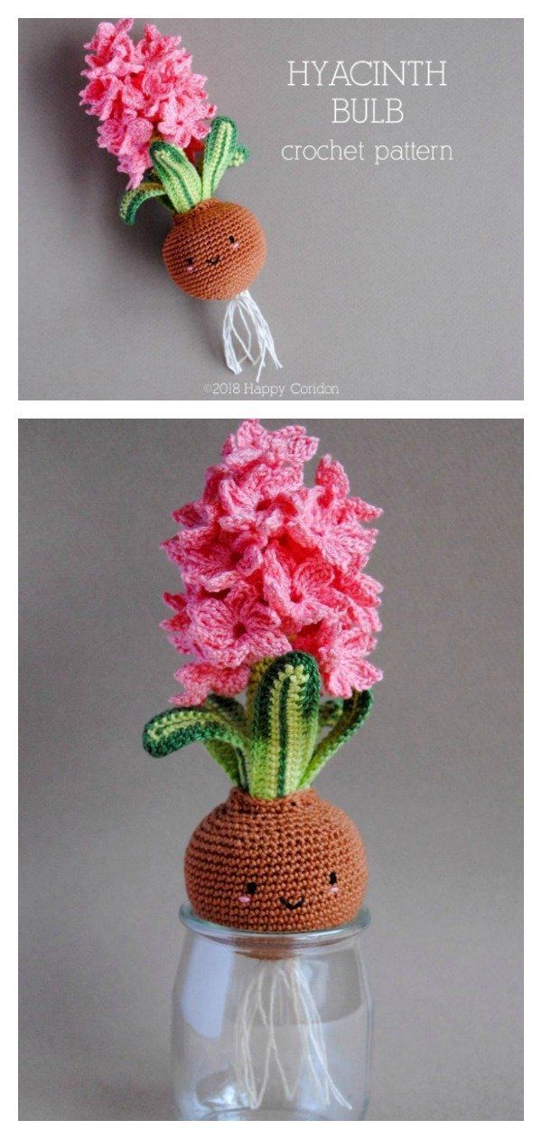6 Adorable Amigurumi Flower Bulb Free Crochet Pattern and Paid