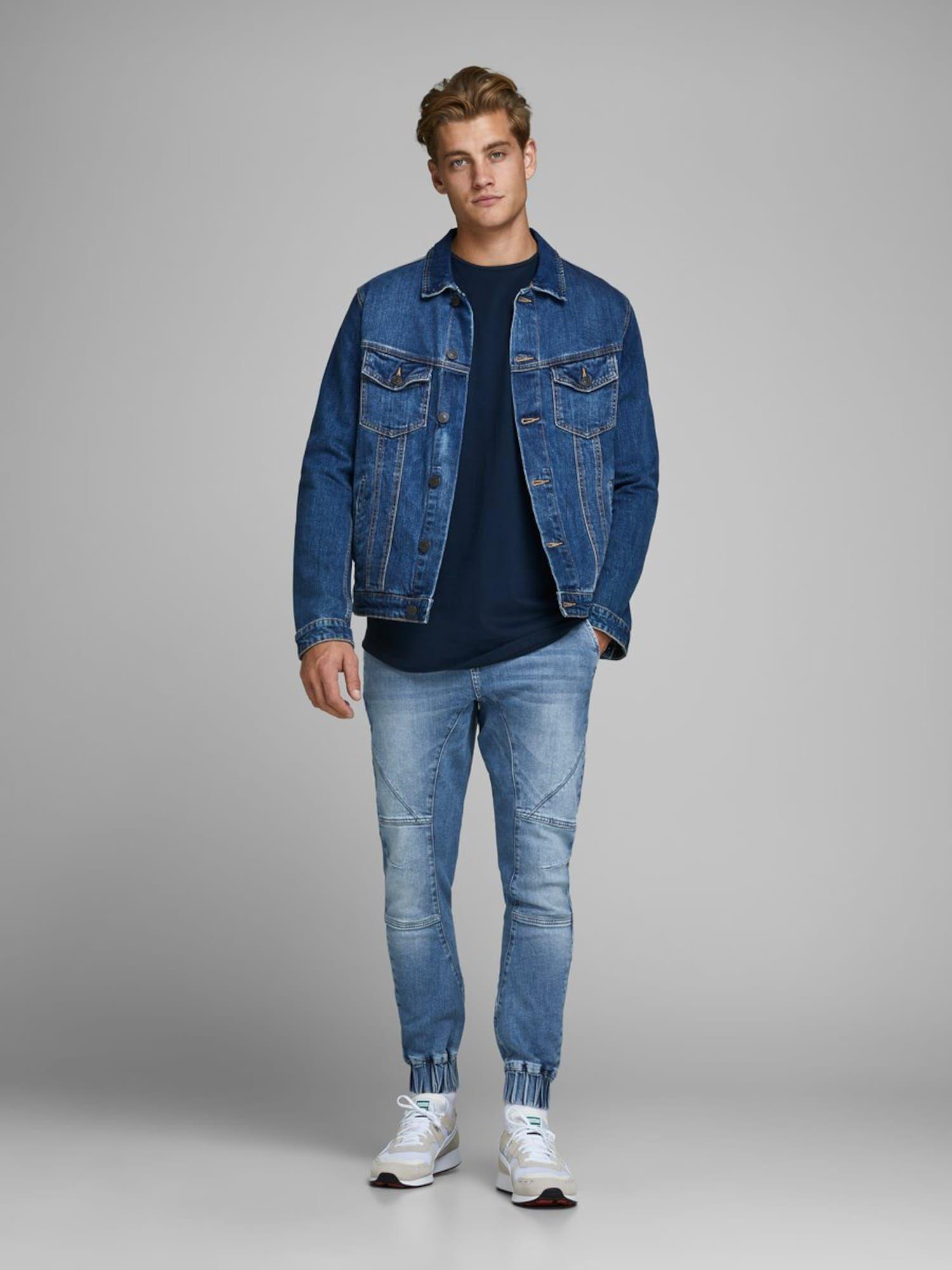 JACK & JONES Jeans in blue denim #jeanjacketoutfits