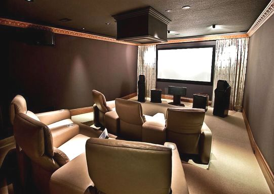 Tkfast Crestron Residential Home Theatre Basement Home