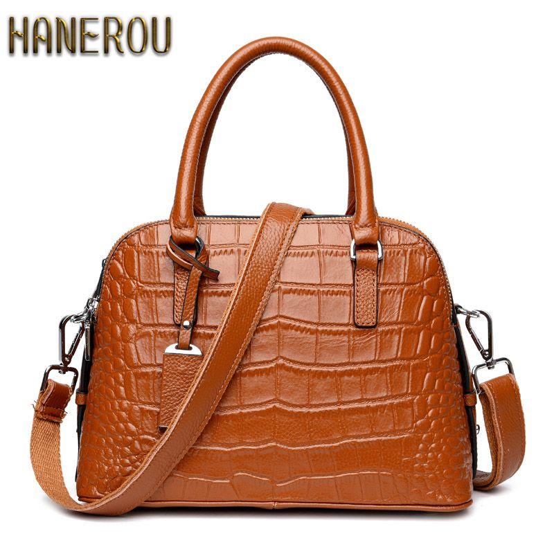 1343fd8253 100% Genuine Leather Bag Famous Brands Ladies Hand Bags 2017Fashion Women  Handbags Designer High Quality Women Bag Shoulder Bags  Affiliate