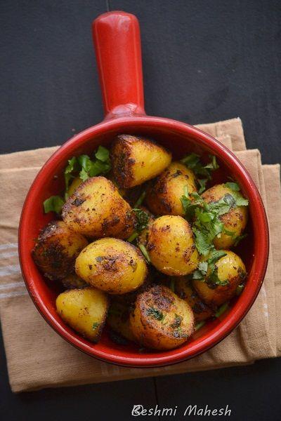 spicy baby potato roast | Roasted baby potatoes, Baby ...