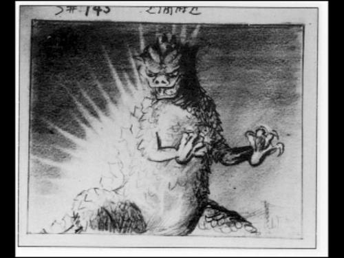 Godzilla 1954 Storyboard Kaiju Art Japanese Art Godzilla